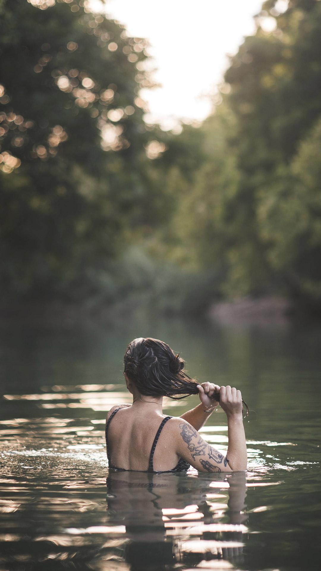 Fluss im nackt baden Nacktbaden .