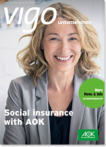 Cover der vigo-Broschüre Social Insurance with AOK