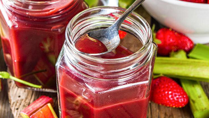 Gesunde Rhabarber-Rezepte: Rhabarber-Erdbeer-Kompott