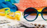 Sonnen-Accessoires und Arzneimittel