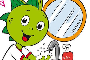 Jolinchen zeigt dir, wie du mit Hygiene gegen Corona vorgehen kannst.