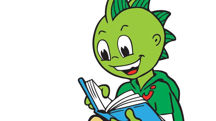 Am Vorlesetag liest auch der AOK-Drache Jolinchen gern eine Geschichte.