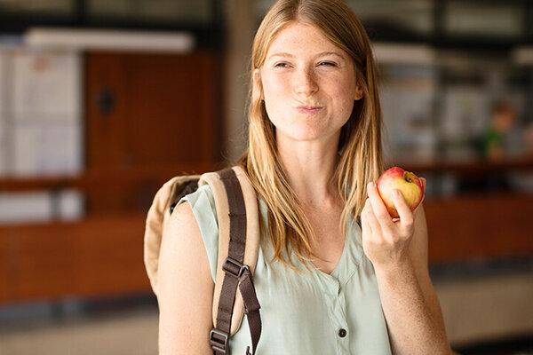 Apfel gegen Heißhunger.