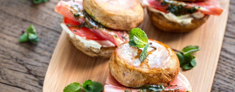 Pilzgericht: Portobello-Burger