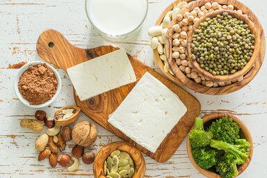 Vegane Proteinquellen in der Übersicht.